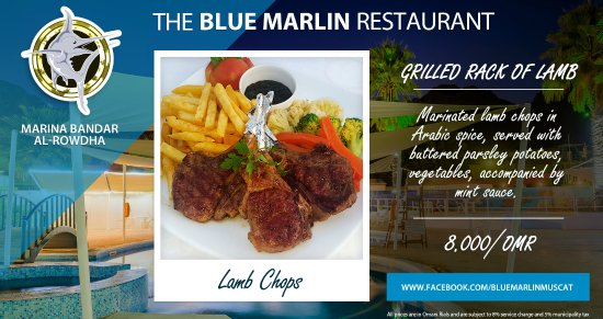 Grilled rack of lamb blue marlin muscat oman picture of the the blue marlin restaurant grilled rack of lamb blue marlin muscat oman forumfinder Images