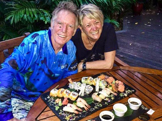 Green Island, Australia: Our takeaway sushi plate - yum!