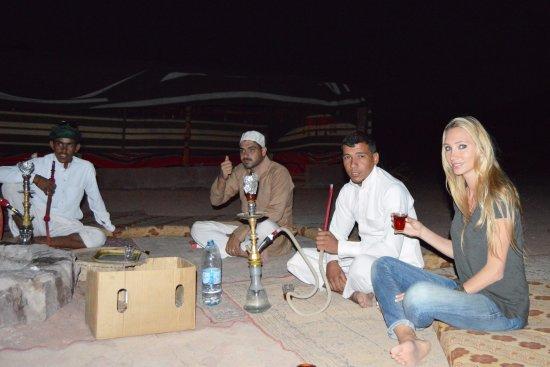 Smoking Hookah Picture Of Wadi Rum Fire Camp Tripadvisor