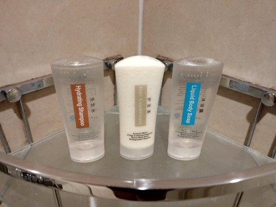 Mudanjiang, Chiny: 淋浴間內有放置沐浴乳, 洗髮水, 護髮素
