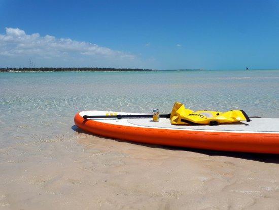 Vilanculos, Mozambique: Stand Up Paddeln zu den Sandbänken während Ebbe-Genial