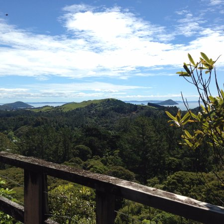 Coromandel, New Zealand: Trained stopped on a wooden rack to switch tracks