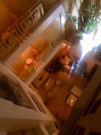 Dar Maya: Looking down towards one of the lounge areas