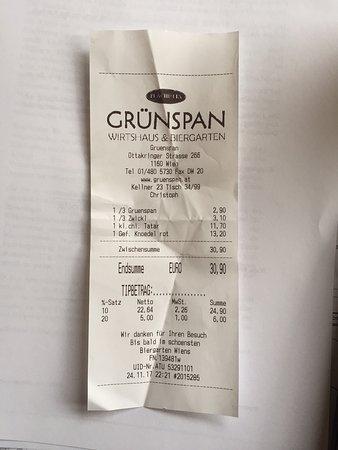 Rechnung Ohne Qr Code Picture Of Plachutta S Grunspan Vienna Tripadvisor
