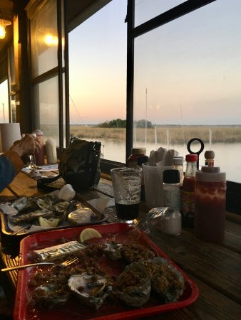 Up the Creek Raw Bar: Dining on the back porch