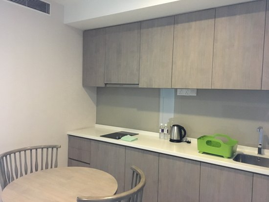 the small kitchenette in the studio apartment - Picture of ...