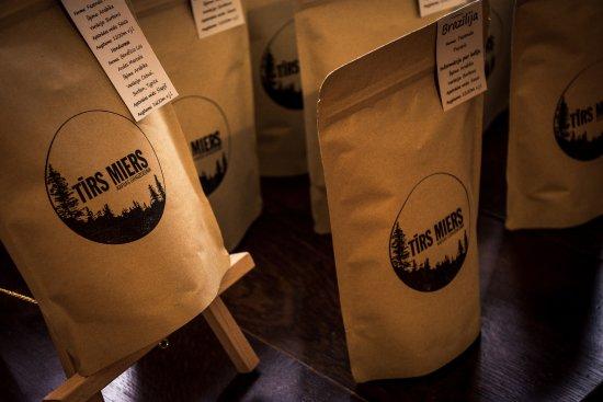 Ranka, Letonia: You can buy freshy roasted coffee in roastery.
