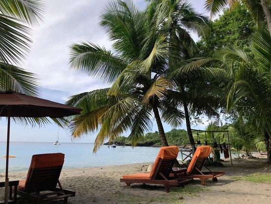 Anse La Raye, St. Lucia: Beach chairs