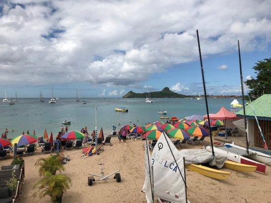 Reduit Beach: The beach from the Yacht Club