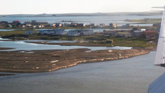 Tuktoyaktuk from the air before landing in the airport.