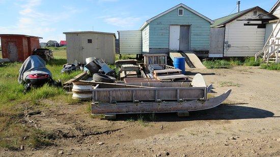 Tuktoyaktuk, Canada: Old sledges