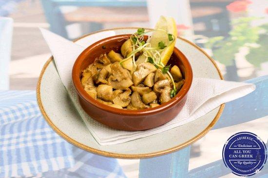 All You Can Greek: Gebakken champignons