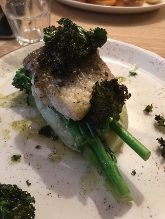 Rotherfield Greys, UK: Hake dish