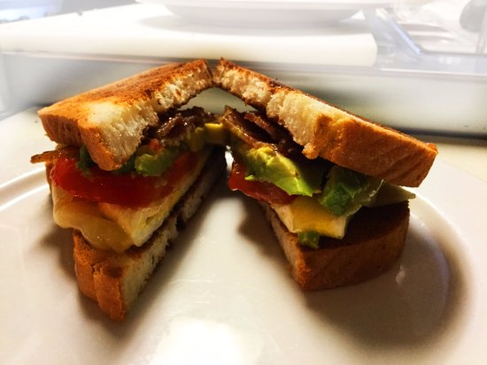 Freighthouse Market & Cafe: organic egg and avocado breakfast sandwich