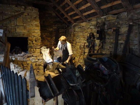 Glenbeigh, Ireland: Blacksmith mannequin
