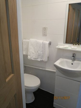 Gower Hotel: Bathroom with shower