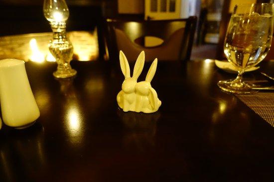 Saint Johnsbury, VT: One of hundreds of rabbits throughout the inn.