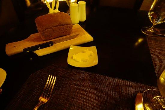 Saint Johnsbury, VT: Even the butter is a rabbit.