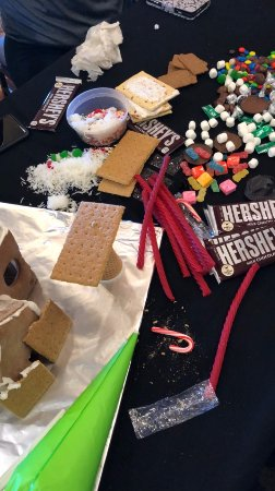 Fish Camp, CA: The Gingerbread House Decorating fun!!