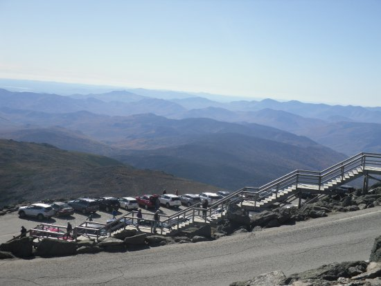 Mount Washington, Νιού Χάμσαϊρ: Steep Ascent From Car Park but Disabled parking is available at the top