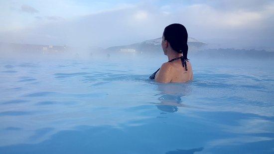 Grindavik, Iceland: Enjoying the lagoon