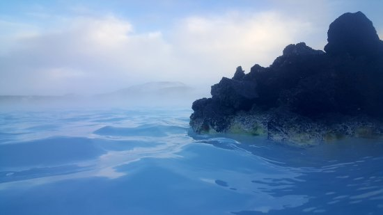 Grindavik, Iceland: In the lagoon
