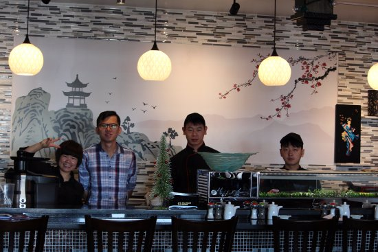 Green Ginger: The owners, Amy and her husband and the talented sushi guys