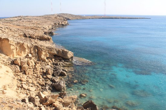 Paphos District, ไซปรัส: Clear water