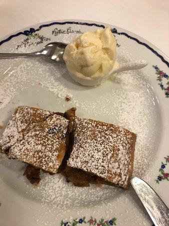 Apple Strudel and vanilla ice cream