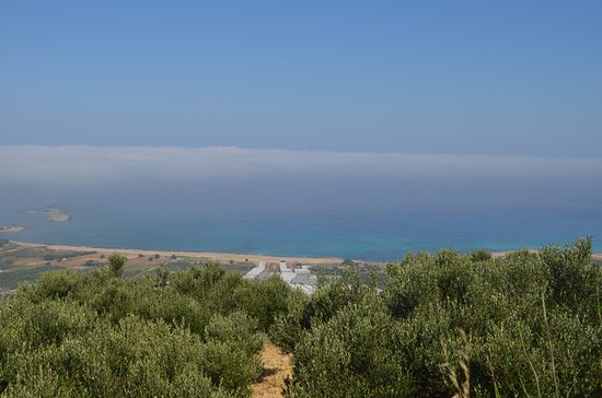 Falassarna Beach: Vista desde arriba antes de llegar