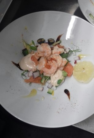 Kingston, UK: Salmon and prawn starter