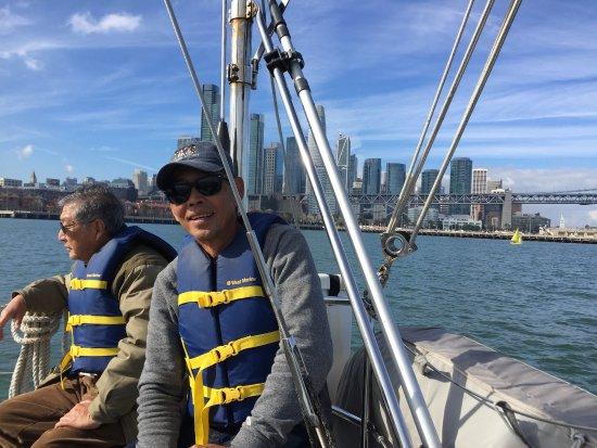 Captain Kirk's San Francisco Sailing - Tours: View of Bay Bridge and San Francisco skyline