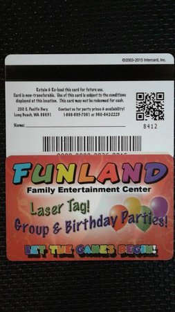 Long Beach, WA: Take a photo of the back of your card, show us and we can replace it if its lost or left at home