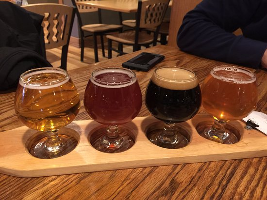 Glenwood Canyon Brewing Company: Beer flight - $8. The dark one has a $3 up charge.