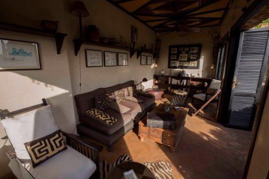 Riad Idra: Sitting room on the terrace.