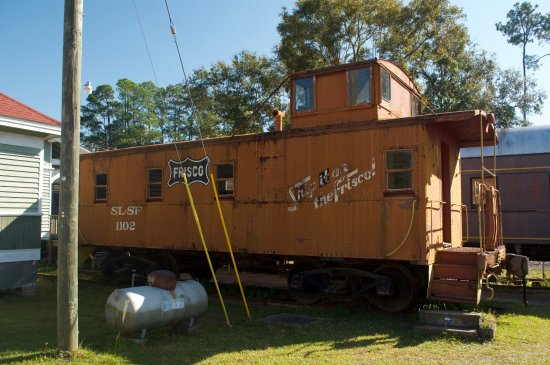 Milton, FL: One of the cabooses on display.