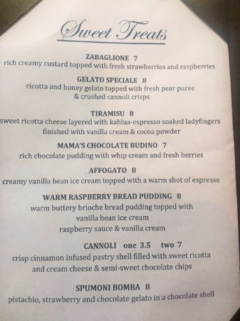 Dublin, CA: This is the Dessert Menu. I don't think you can go wrong with any of these choices.
