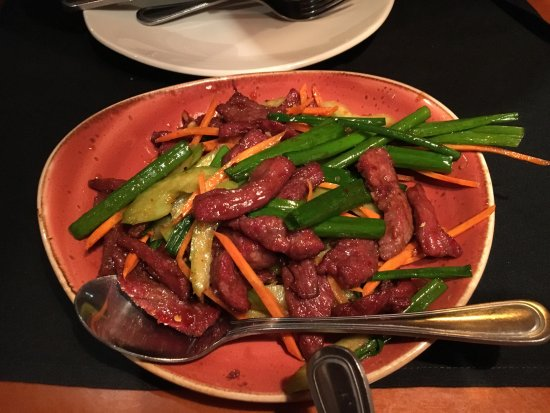 P.F. Chang's: beef sichuan