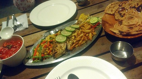 Silver Sand Beach Resort : Snapper was fresh but could have been cooked so much better.
