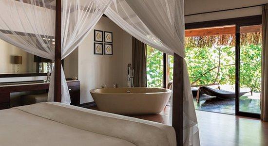 Bazaruto Island, Mozambique: Beach Pool Villa Bedroom And Deck