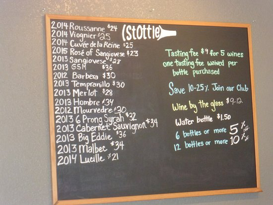 Stottle Winery Tasting Room Hoodsport: List of possibilities