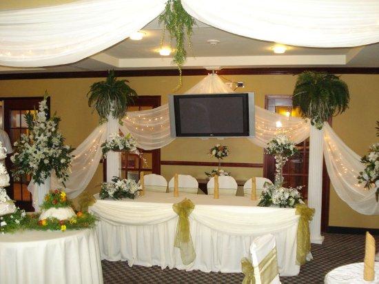 Trincity, Trinidad: Head Table for Wedding in Great Room