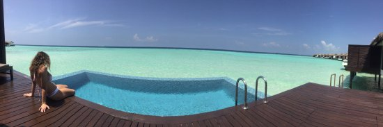 Falhumaafushi: Panoramic view of East side of Island