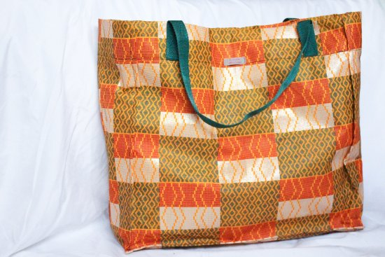 Lilongwe, Malavi: We've got the best bags. This particular one is lined with flour sack, strong and waterproof!