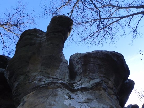"Harrisburg, IL: looks like a ""Thumb Rock"""