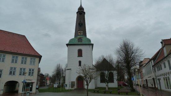 Facaden på Stadtkirche Glueckstadt
