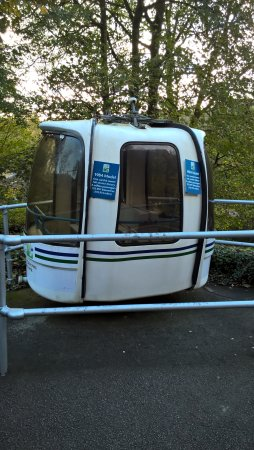 Matlock Bath, UK: One of the original cable cars on display