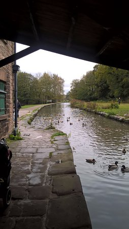 Matlock, UK: view from the end of the canal, near to Cromford Mill
