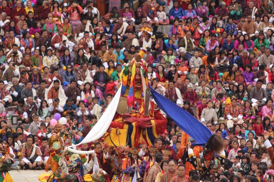 Thimphu District, Bhutan: Thimphu Festival (one of the mask Dance)