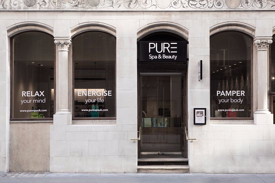 Exterior of PURE Spa & Beauty London City